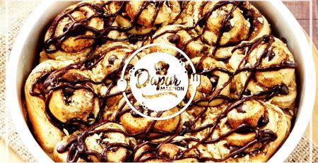 Resep Choco Almond Cinnamon Rolls Dengan Maspion Round Pan Aluminium